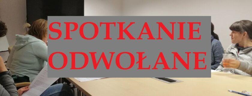 ODWOŁANE Spotkanie wolontariatu DHD Promyczek 01.10.2020 g. 19.00